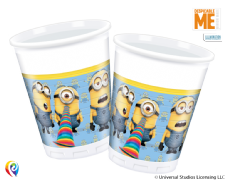 8 Minion Plastic Cups